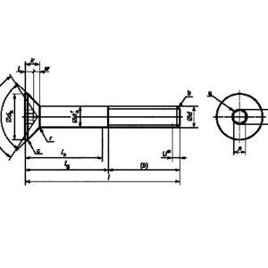 Винт М4х12-12.9-A9А ГОСТ Р ИСО 10642-2012