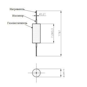 Нераспыляемый геттер (газопоглотитель) ST172/LHI-MoRe/3-7/200