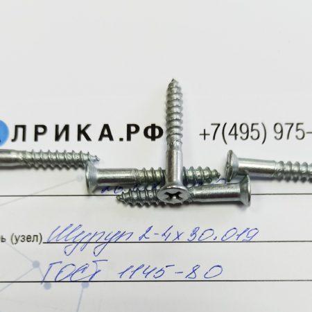 Шуруп 2-2×16.019 ГОСТ 1145-80